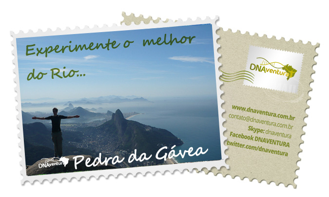 Visual do cume da Pedra da Gávea